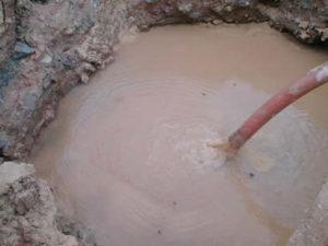 esgotamento de lama